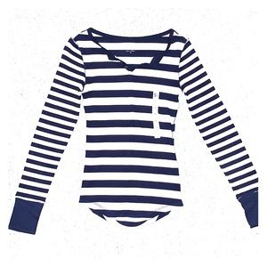 💙 NAVY AND WHITE STRIPED SHIRT 💙